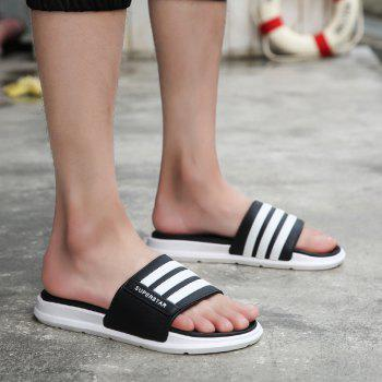 New Men Summer Trend Dry and Clear Lightweight Slippers - BLACK 41