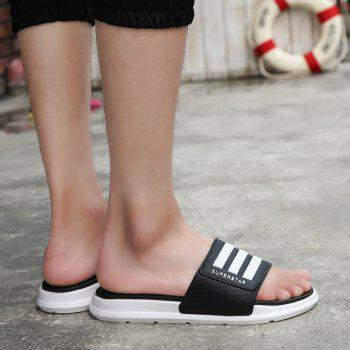 New Men Summer Trend Dry and Clear Lightweight Slippers - BLACK 43
