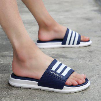New Men Summer Trend Dry and Clear Lightweight Slippers - EARTH BLUE 39