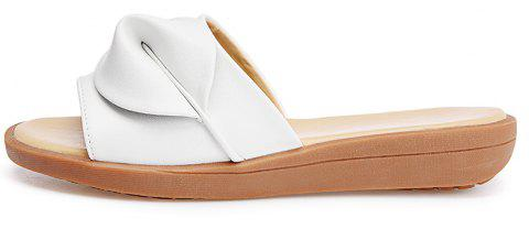 New Women Solid Color Comfortable Casual Sandals - WHITE 36