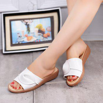New Women Solid Color Comfortable Casual Sandals - WHITE 35