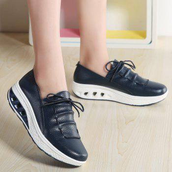 New Women Lightweight Breathable Simple Fashion White Shoes - MIDNIGHT BLUE 38
