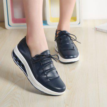 New Women Lightweight Breathable Simple Fashion White Shoes - MIDNIGHT BLUE 41