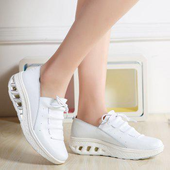 New Women Lightweight Breathable Simple Fashion White Shoes - MILK WHITE 36