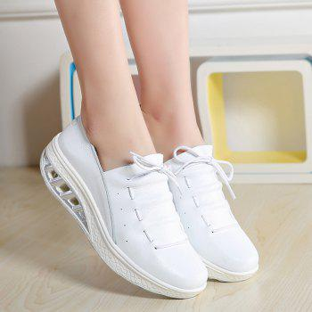 New Women Lightweight Breathable Simple Fashion White Shoes - MILK WHITE 38