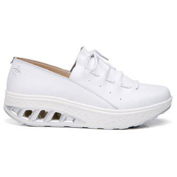 New Women Lightweight Breathable Simple Fashion White Shoes - MILK WHITE 41