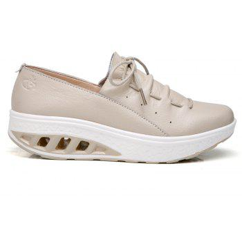 New Women Lightweight Breathable Simple Fashion White Shoes - BEE YELLOW 40