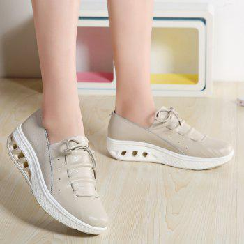 New Women Lightweight Breathable Simple Fashion White Shoes - BEE YELLOW 42
