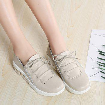 New Women Lightweight Breathable Simple Fashion White Shoes - BEE YELLOW 36