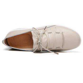 New Women Lightweight Breathable Simple Fashion White Shoes - BEE YELLOW 37