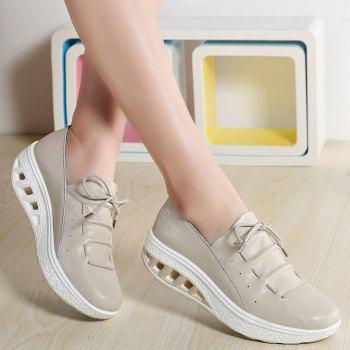 New Women Lightweight Breathable Simple Fashion White Shoes - BEE YELLOW 41