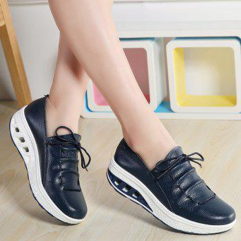 New Women Lightweight Breathable Simple Fashion White Shoes - MIDNIGHT BLUE 42