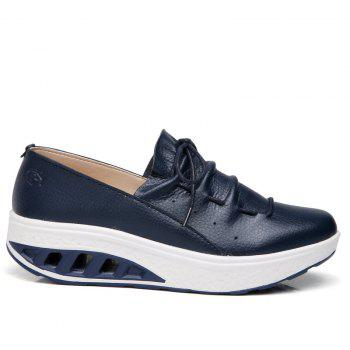 New Women Lightweight Breathable Simple Fashion White Shoes - MIDNIGHT BLUE 36