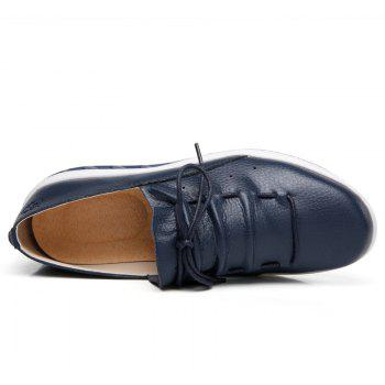 New Women Lightweight Breathable Simple Fashion White Shoes - MIDNIGHT BLUE 37