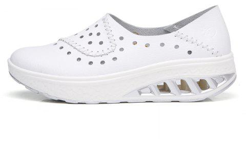 New Women Lightweight Breathable Sweat-Absorbent Non-Slip Shoes - MILK WHITE 38