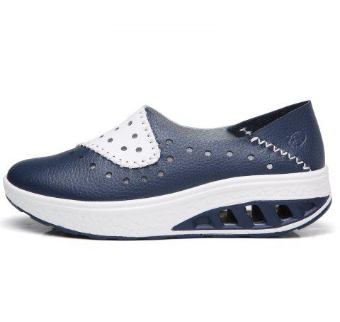 New Women Lightweight Breathable Sweat-Absorbent Non-Slip Shoes - BLUE DRESS 40