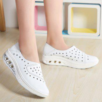 New Women Lightweight Breathable Sweat-Absorbent Non-Slip Shoes - MILK WHITE 40