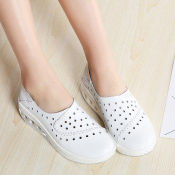 New Women Lightweight Breathable Sweat-Absorbent Non-Slip Shoes - MILK WHITE 36