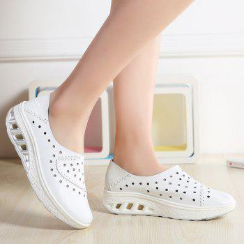 New Women Lightweight Breathable Sweat-Absorbent Non-Slip Shoes - MILK WHITE 37