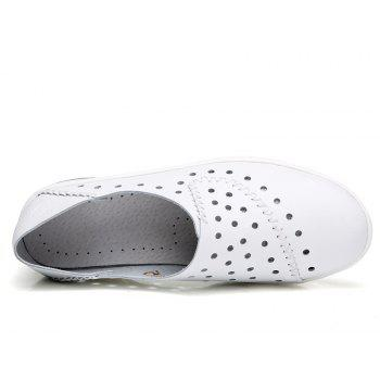 New Women Lightweight Breathable Sweat-Absorbent Non-Slip Shoes - MILK WHITE 41