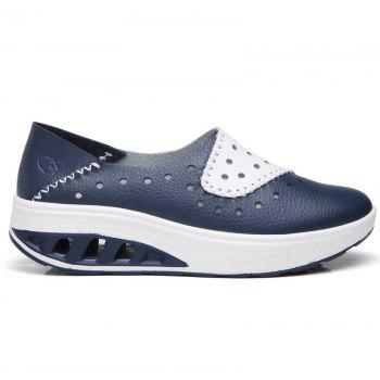 New Women Lightweight Breathable Sweat-Absorbent Non-Slip Shoes - BLUE DRESS 37