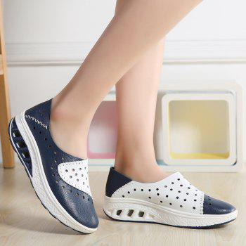 New Women Lightweight Breathable Sweat-Absorbent Non-Slip Shoes - BLUE DRESS 38
