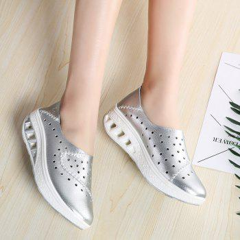 New Women Lightweight Breathable Sweat-Absorbent Non-Slip Shoes - SILVER 40