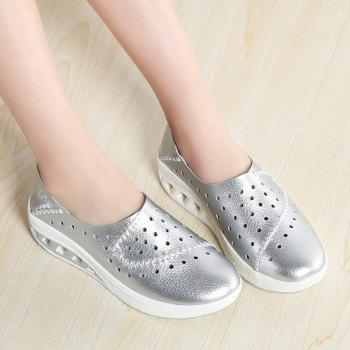 New Women Lightweight Breathable Sweat-Absorbent Non-Slip Shoes - SILVER 37