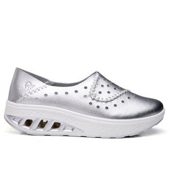 New Women Lightweight Breathable Sweat-Absorbent Non-Slip Shoes - SILVER 39