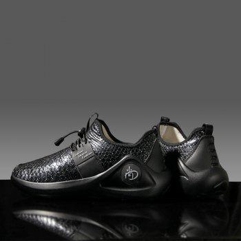 New Men Cool Light Breathable Casual Shoes - BLACK 43