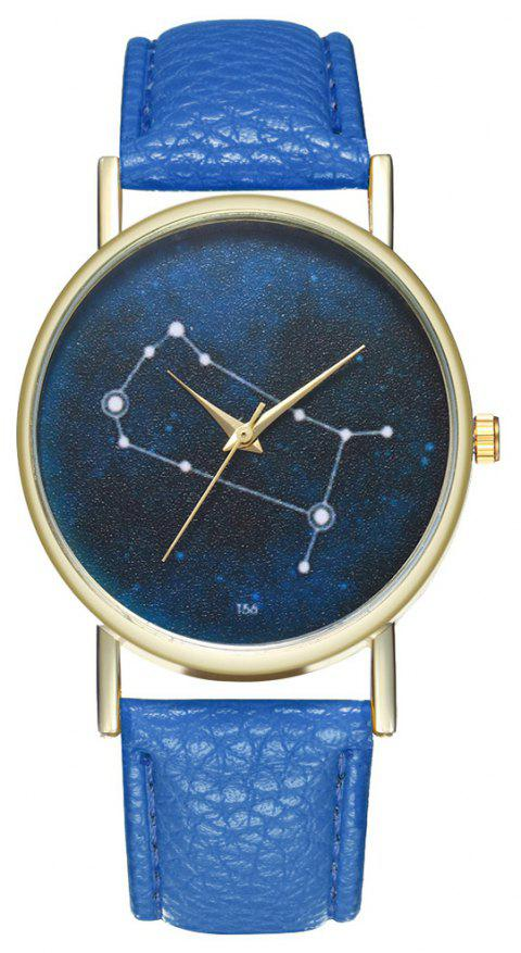 Zhou Lianfa Brand Gemini Leather Watch - ROYAL BLUE