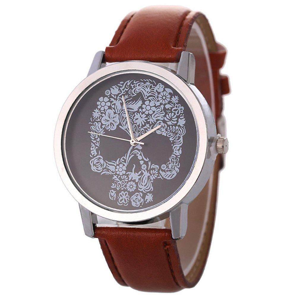 Fashion Men Sports Hiphop Quartz Watch - BROWN
