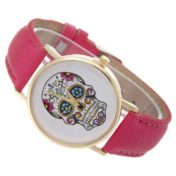 Casual Fashion Personality Leather Band Men Watch - BURNT PINK