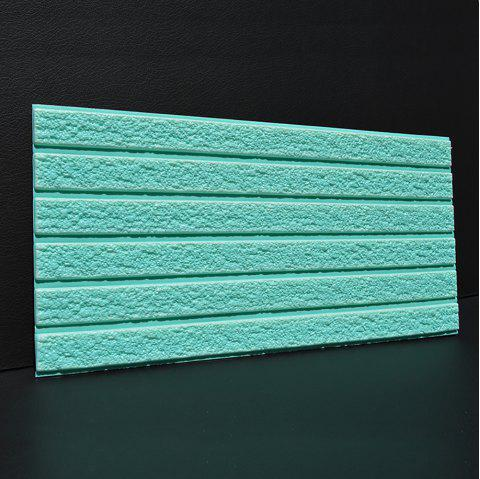 Self-adhesive Brick Pattern Soft Pack Collision Wall Stickers - BLUE GREEN 30X60CM