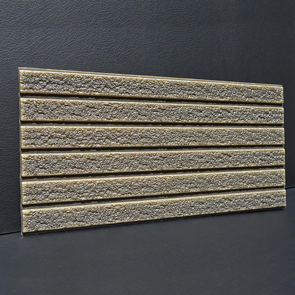 Self-adhesive Brick Pattern Soft Pack Collision Wall Stickers - ARMY BROWN 30X60CM