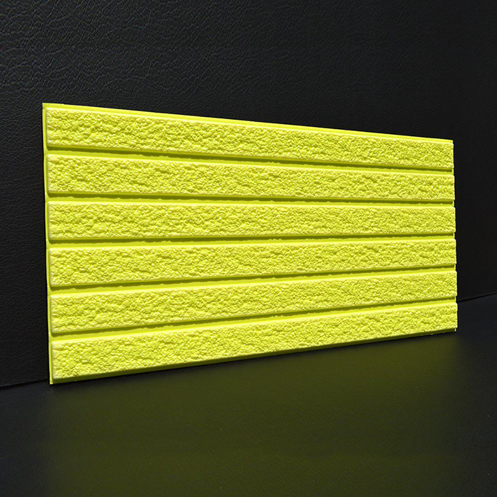 Self-adhesive Brick Pattern Soft Pack Collision Wall Stickers - YELLOW 30X60CM