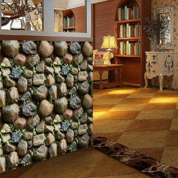 Wallpaper Brick With Plastic - BROWN 45X100CM