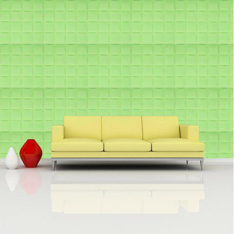 3D Self-adhesive Foam Wall Sticker - SLIME GREEN 35X35CM