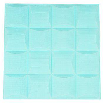 3D Self-adhesive Foam Wall Sticker - ELECTRIC BLUE 35X35CM
