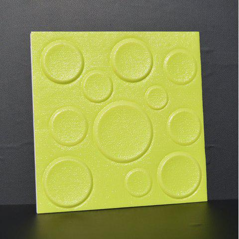 Self Adhesive 3D Board Background Wall - GREEN 30X30CM