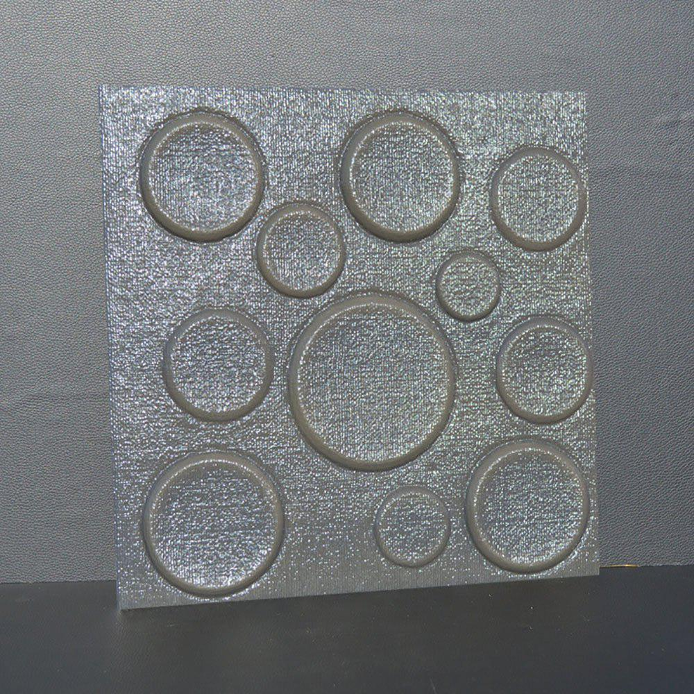 Self Adhesive 3D Board Background Wall - GRAY 30X30CM