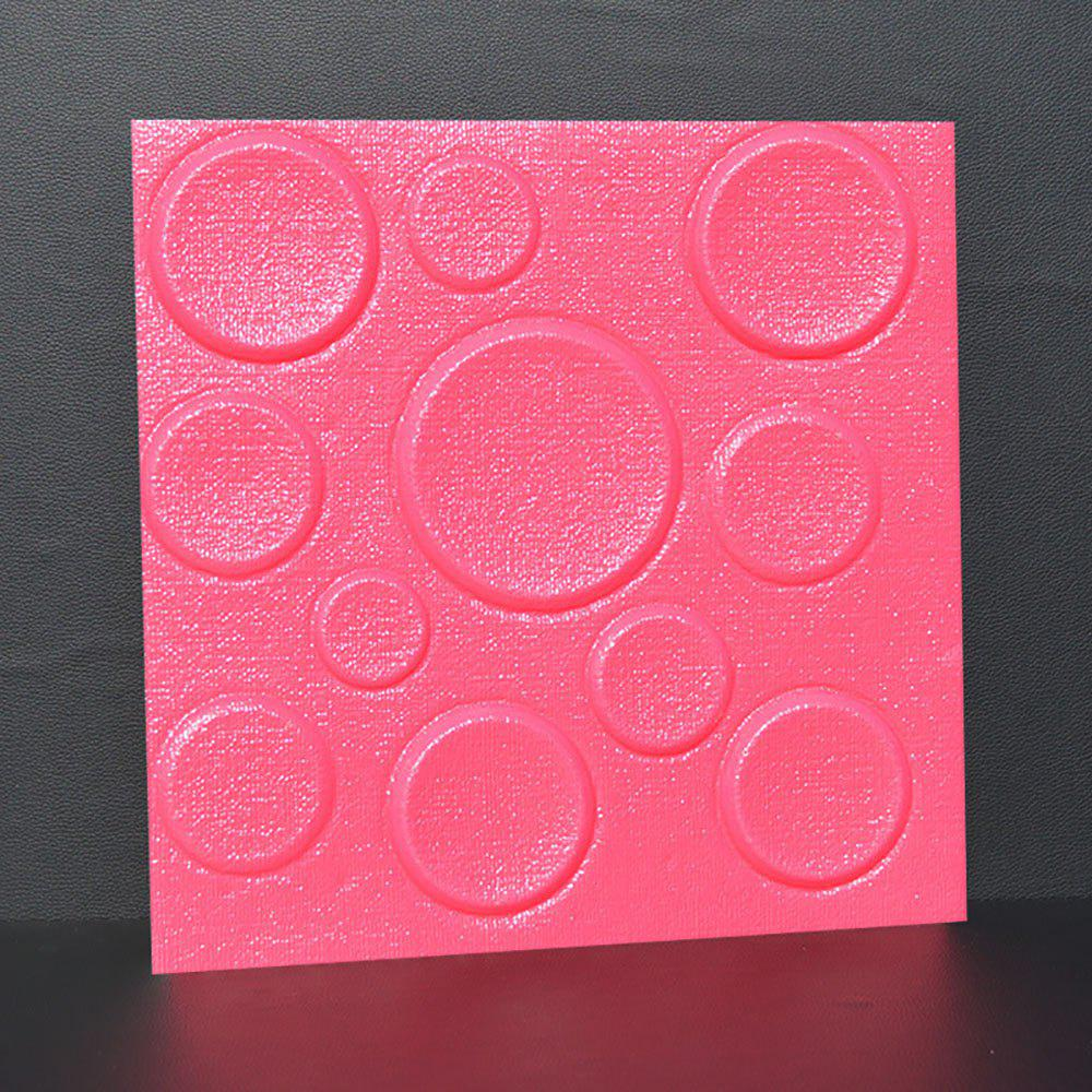 Self Adhesive 3D Board Background Wall - DEEP PINK 30X30CM