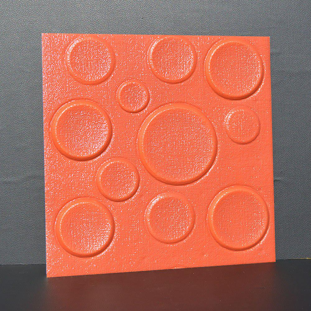 Self Adhesive 3D Board Background Wall - LAVA RED 30X30CM
