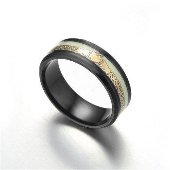 Explosive Stainless Steel Men Ring - BLACK US SIZE 8