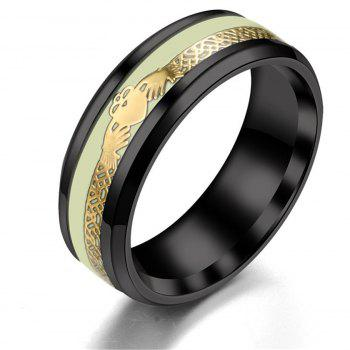 Explosive Stainless Steel Men Ring - BLACK US SIZE 9