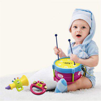 Rattle Early Learning Puzzle Baby Musical Instruments - multicolor A