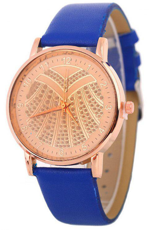 Hot Ladies Artificial Diamond Watch - BLUE