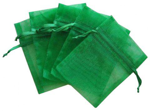 Gauze Bags Hand-Locked Fishing Gear Accessories 5PCS - GREEN