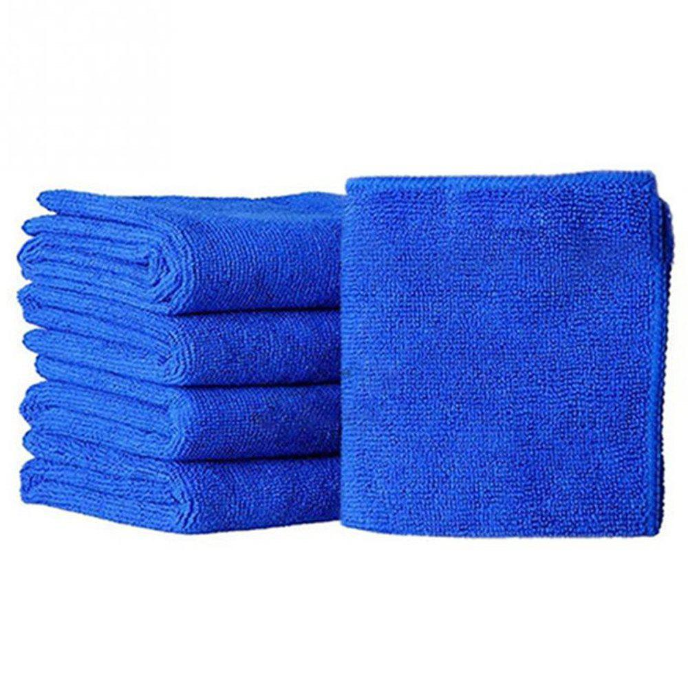 Microfiber Cleaning Soft Cloth Washing Towel Dust Collector Car Wipe - BLUE