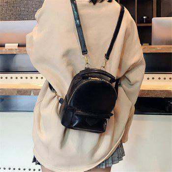 Fashion Wild Simple Small Fresh Large Capacity Female Backpack Tide - BLACK
